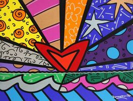 Romero Britto, 'New Love', 2016