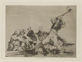 Francisco de Goya, 'Lo mismo [The same], plate 3', 1811-1812