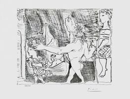 Pablo Picasso, 'Blind Minotaur Led by Girl w/Dove', 1990