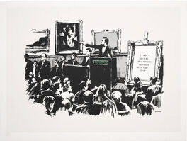 Banksy, 'Morons (white, SIGNED)', 2007
