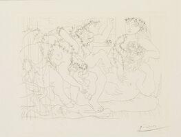 Pablo Picasso, 'Sculpteur, Garçon et Modèle avec un Groupe sculpté représentant le Rapt d'Europe (S.V. 56)', 1933