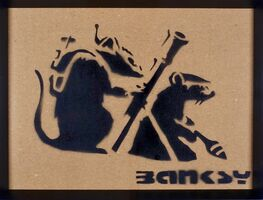 Banksy, 'Basooka rat', 2015
