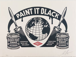 Shepard Fairey (OBEY), 'Paint It Black Obey Giant Letterpress Print', 2020