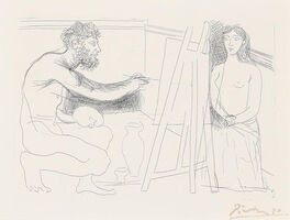 Pablo Picasso, 'Peintre devant son Chevalet, from Le Chef-d'Oeuvre Inconnu (B. 93, g. 134)', 1927