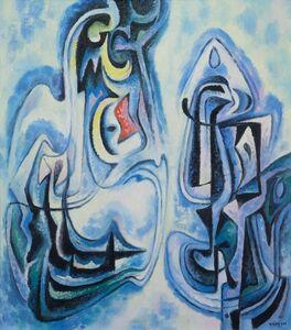Emil Bisttram, 'Figurants', unknown