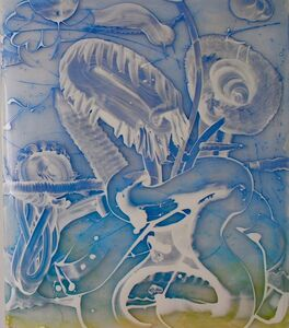 Catherine Howe, 'Reverse Mylar Painting, Blue Composition (2)', 2017