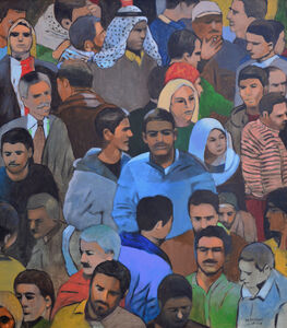 Khaled Hourani, 'Crowd #1', 2019