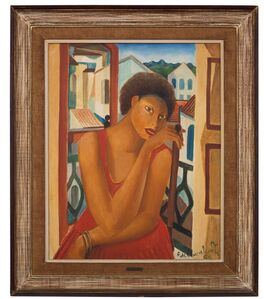 Emiliano Di Cavalcanti, 'Mulata at the window',  1962