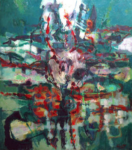 Renato Birolli, 'La terra verde', 1957