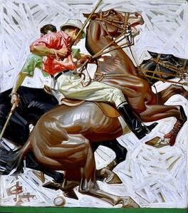 Joseph Christian Leyendecker, 'Polo Players on Horseback, Kuppenheimer Advertisement', 1914