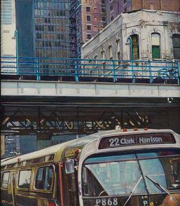 Rudolf Häsler, 'Bus Clark Harrison, Chicago', 1982