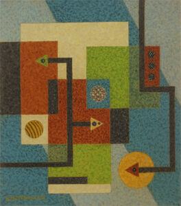 Emil Bisttram, 'Squares and Arrows', 1944