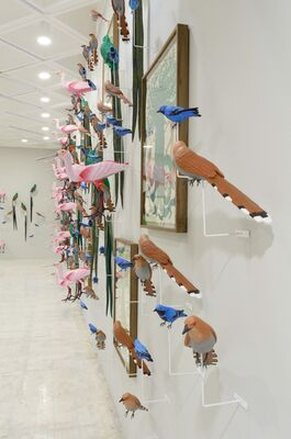 Special Project: Eduardo Sarabia. Celebrations and Other Feathered Serpent, installation view