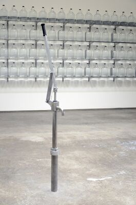 """Well 34°01'03""""N - 118°29'12""""W, installation view"""