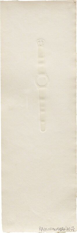 Robert Rauschenberg, 'Intaglio Watch', 1968, Print, Inkless intaglio with embossment, on Angoumois à la main white wove paper, with full margins., Phillips