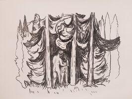 Edvard Munch, 'Skogen (The Forest)', 1908-1909