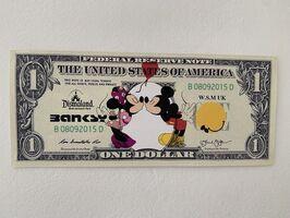 "Banksy, ' BANKSY DISMALAND US DOLLAR ""MICKEY & MINNIE KISS"", DISMAL DOLLAR', 2015"
