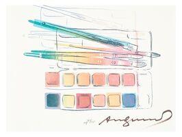 Andy Warhol, 'Watercolor paint kit with brushes (Feldman & Schellmann II.288)', 1984