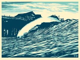 Shepard Fairey (OBEY), 'Pop Wave Blue Edition', 2016