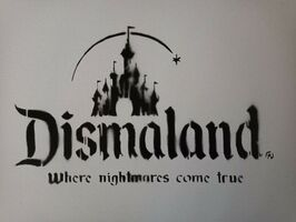 "Banksy, 'BANKSY DISMALAND ""WHERE NIGHTMARES COME TRUE"" CANVAS WITH STORE RECEIPT', 2015"