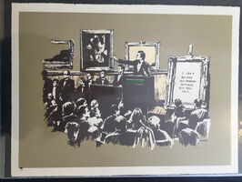 Banksy, 'Morons (Sepia) (Signed)', 2006