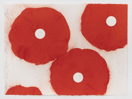 Donald Sultan, 'Four Red Poppies March 20 2020', 2020