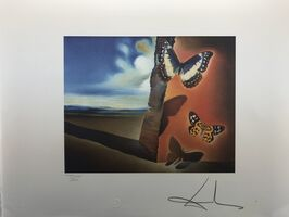 Salvador Dalí, 'Surrealistic scene with butterflys', 1988