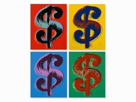 Andy Warhol, 'Dollar Sign Suite (Sunday B. Morning), 4 Limited Edition Silkscreen Artworks', 2013