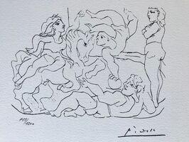 Pablo Picasso, 'Suite Vollard Planche XVII', 1973