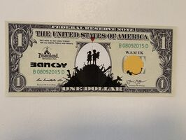 "Banksy, 'BANKSY DISMALAND US DOLLAR ""KIDS WITH WEAPONS"", DISMAL DOLLAR', 2015"