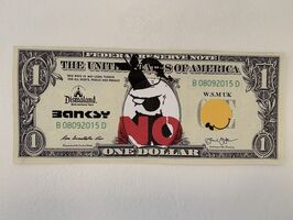 "Banksy, 'BANKSY DISMALAND US DOLLAR ""BOMB HUGGER"", DISMAL DOLLAR', 2015"