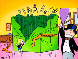 Alec Monopoly, 'Richie + Monopoly Opening $ Packages ', 2021