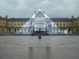 JR, 'JR x Liu Bolin @museedulouvre © Pyramide, architecte I. M. Pei, musée du Louvre, Paris, France', 2016