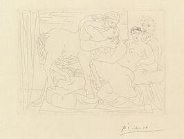 Pablo Picasso, 'Le Repos du Sculpteur devant un Centaure et une Femme, from La Suite Vollard (B. 167; Ba. 320)', 1933