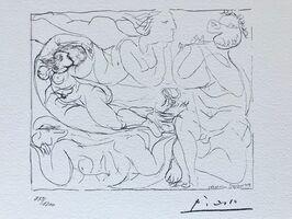 Pablo Picasso, 'Flûtiste et trois femmes nues (Suite Vollard Planche XI)', 1973