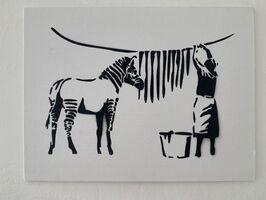 "Banksy, 'BANKSY DISMALAND ""WASHING ZEBRA""  ', 2015"