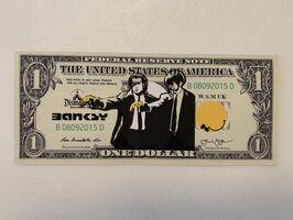 "Banksy, 'BANKSY DISMALAND US DOLLAR ""PULP FICTION"", DISMAL DOLLAR', 2015"