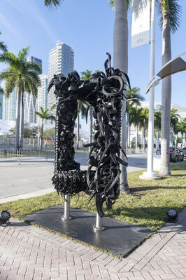 Mark Borghi at Art Miami 2019, installation view