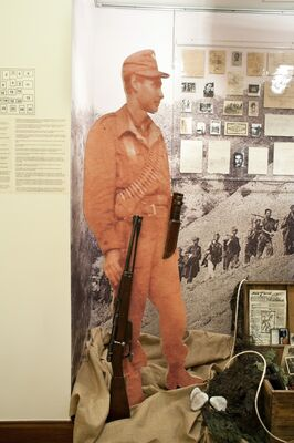 """""""Synagonistis: Greek Jews in the National Resistance"""", installation view"""