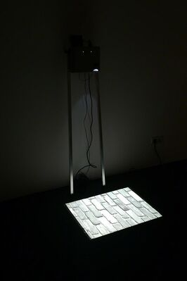 A tape runs on in silence, installation view