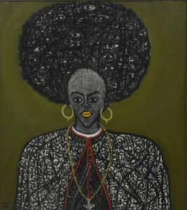 Victor Ehikhamenor, 'Cardinal Afro', 2017