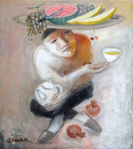 Anwar Abdoullaev, 'In the teahouse', 2020