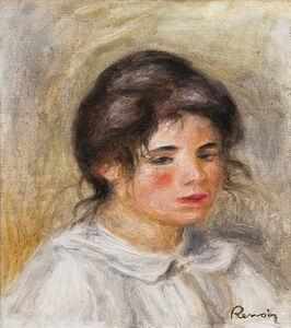 Pierre-Auguste Renoir, 'Femme en blouse blanche (Gabrielle)', ca. 1907