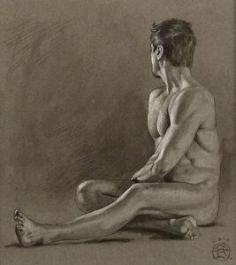 Philip Gladstone, 'Male Nude Seated', ca. 2013