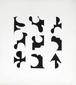 Clemente Padín, '6 Poemas visuales (Instalación de 6 obras) Edición 1984', 1984