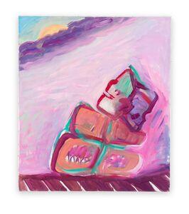 Maria Lassnig, 'Januskopf / Tag- und Nachtgedanken (Janus Head / Daytime and Nighttime Thoughts)', 1987