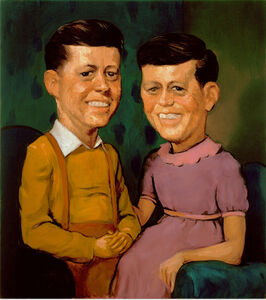 John Currin, 'The Kennedys', 1996
