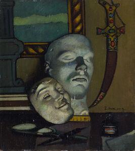 Piero Marussig, 'Interno con maschere', 1930 ca.