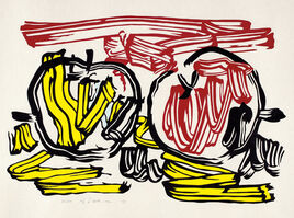Roy Lichtenstein, 'Red Apple and Yellow Apple, from Seven Apple Woodcuts (C. 197)', 1983