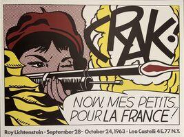 Roy Lichtenstein, 'CRAK! Leo Castelli Gallery, New Original Poster', 1963
